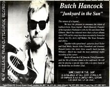"R&R19p6 Advert 7x10"" Butch hancock : Junkyard in the sun"