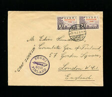 Zeppelin Sieger 89B 1930 Baltic Sea Flight Finland Post VERYFINE COVER to London