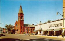 East Orange NJ Main Street Brick Church Section Store Fronts Postcard