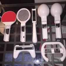 Nintendo wii Accessories Tennis Racket table tennis Steering Wheel, marraccas