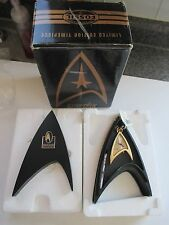 VINTAGE FOSSIL STAR TREK 30TH ANN LTD ED POCKET WATCH MIB #2507/10,000 NEW