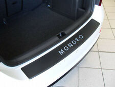Carbon Chrome Style Rear Bumper Protector Ford Mondeo MK4 Estate Carbon Film