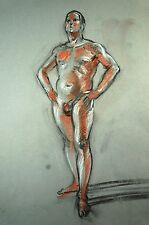 Male Nude Life Drawing by  Keith Gunderson