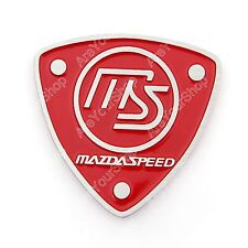 3D Car Aluminum Emblem Badge Sticker Decal MS Red Shield For Mazda 3 5 6 K