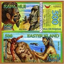 EASTER ISLAND 500 RONGO POLYMER BEAUTIFUL NOTE  # 438