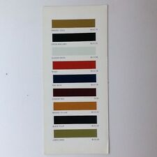 ✇ Original Farbkarte Colors BRITISH LEYLAND MG 1970er-Jahre