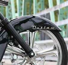 """""""Outlaw"""" CHROME decal for fender or saddle bag fits Harley Davidson Switchback"""