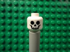 Lego mini figure 1 White skeleton head face NEW