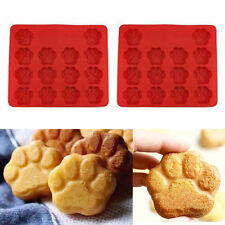 Puppy Paw Shape Silicone Baking Pan Mold Ice Tray Dog Treat Cookie Mould