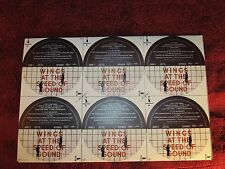 WINGS, SPEED OF SOUND, RECORD LABEL BLANKS, uncut,unused, one order = 10 sheets