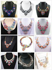 Fashion Charm Mixed Style Chain Crystal Choker Chunky Statement Bib Necklace