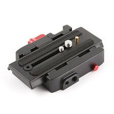 Manfrotto Tripod Head DSLR Video Camera Stabilizer Slider Quick Release Plate