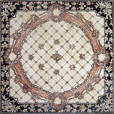 "80"" Floral Carpet/Rug Floor Elegance Wall Design Home Marble Mosaic Art Tile"