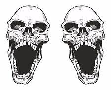2x skull sticker Motorcycle Gas Tank car bumper decal17