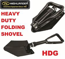 HIGHLANDER TRI FOLDING SHOVEL ENTRENCHMENT TOOL ARMY SPADE CAMP SURVIVAL BIVI