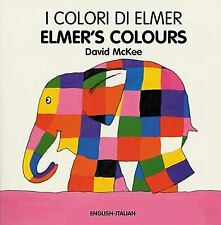 Elmer: Elmer's Colours by David McKee (2004, Board Book, Bilingual)