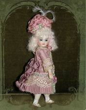 Antique Reproduction Porcelain Doll Mohair Glass Eyes French Patricia Loveless