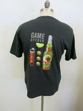 "Tommy Bahama Relax ""Game Opener"" Black Solid Cotton T-Shirt S Small"
