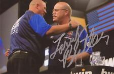 DARTS: LARRY BUTLER 'THE BALD EAGLE' SIGNED 6x4 ACTION PHOTO+COA