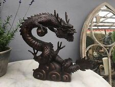 bronze Dragon Oriental Dragon in bronze piped for water Dragon spitter feature
