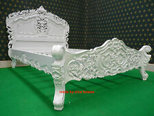 UK STOCK Single size 3' White French style designer Rococo Bed ... Top Quality