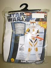 Star Wars CLONE TROOPER Rubies Halloween Costume boys sz S 3-4 mask & suit