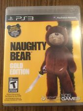 Naughty Bear - Gold Edition (Sony PlayStation 3, 2011) Complete