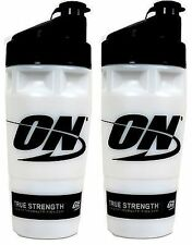 Two Optimum Nutrition 32 fluid oz. Shaker Cups, Made in the USA blender bottles
