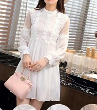 White Lace Empire Waist Dress. L. Take A Self Portrait In This One!