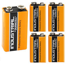 5 Single Duracell Procell 9 V Block Alkaline Battery  PP3 6LR61 MN1604 Batteries