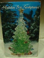 "HOLIDAY ICE SCULPTURES BY HERITAGE MINT ""Oh Tannanbaum Tree"" W/ORIG BOX"