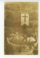 Paschal Lamb for Easter? RPPC Christian Catholic Religious Cute Photo 1910s