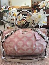Coach Madison Signature Shantung Sophia Convertible Shoulder HandBag Purse EUC