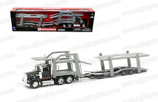 Kenworth W900 Car Transporter Trailer Semi Truck Die-cast 1:43 New Ray 12 inch
