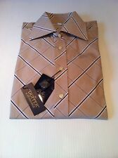 BNWT Duffer of St.George Long Sleeve Shirt In Tan Size M