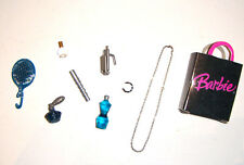 Barbie Dolls Sized 9 Pieces Accessories Jewelry, Perfume Bottle for Dolls ac881