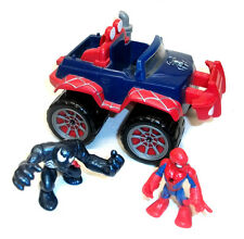 Marvel Comics PLAYSKOOL super-héros Squad Spiderman & Venom voiture jouet & figure,