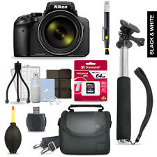 Nikon Coolpix P900 + 64GB Multi Accessory Bundle + 43 in Selfie Stick