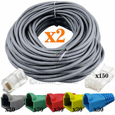 2 Pieces 80 Meter RJ45 Cat5e Ethernet LAN Network Cable Crimp Connectors Boots