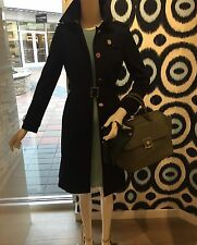 NWT TORY BURCH Vanna Belted Trench Coat, Caper Sz 4