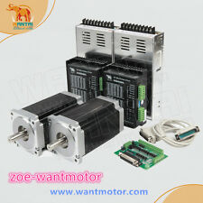 Hot sale!USA free ship!CNC Wantai 2Axis Nema34 Stepper Motor 1090oz 5.6A&Driver
