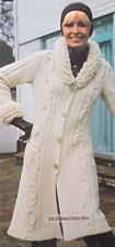 CABLE COAT - 8ply or D.K. - Ladies knitting pattern