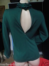 VALENTINO BOUTIQUE MADE IN ITALY HAUT FEMININ ET COUTURE VERT SAPIN 12 T 38/40