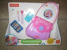 Fisher Price pretty purse Surprise Inside make up dress Cell Phone credit card