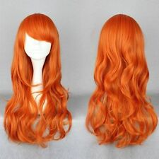 HELLOJF265  Charming long curly hair fashion orange  wig wigs for women
