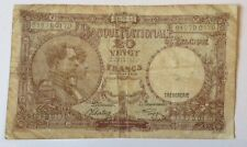 Belgium Banknote. 20 Francs. Dated 1941