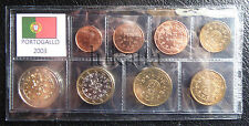 PORTOGALLO 2003 - Serie annuale 8 monete euro FDC/UNC in blister