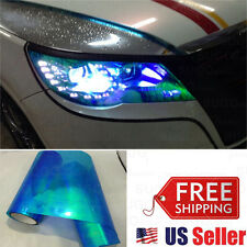 "84""x12"" Chameleon Neo Blue Colorful Headlight Taillamp Tint Lens Vinyl Wrap Film"