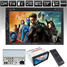 7'' HD Double 2 DIN Car Stereo DVD Player Touch Bluetooth Radio MP3 MP5 In Dash
