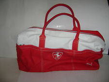 FERRARI FORMULA 1 CLUB PUMA BAG RED WHITE DUFFLE GYM BAG EUC